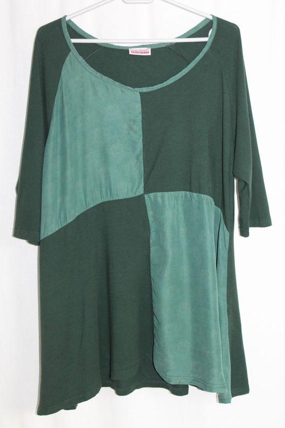 cocon.commerz PRIVATSACHEN Shirt aus Seide und Lyocell in grün  Größe 2