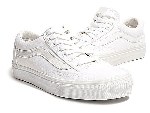 vans old school shoes white