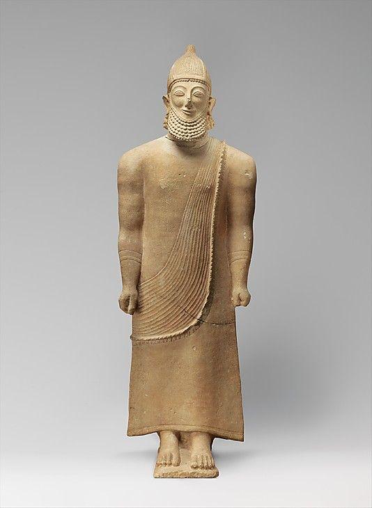 Limestone Male Figure Period Archaic Date Last Quarter