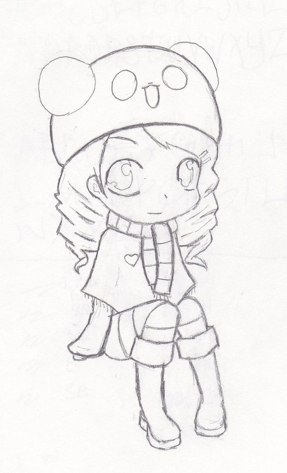 Anime tierno para dibujar - Imagui