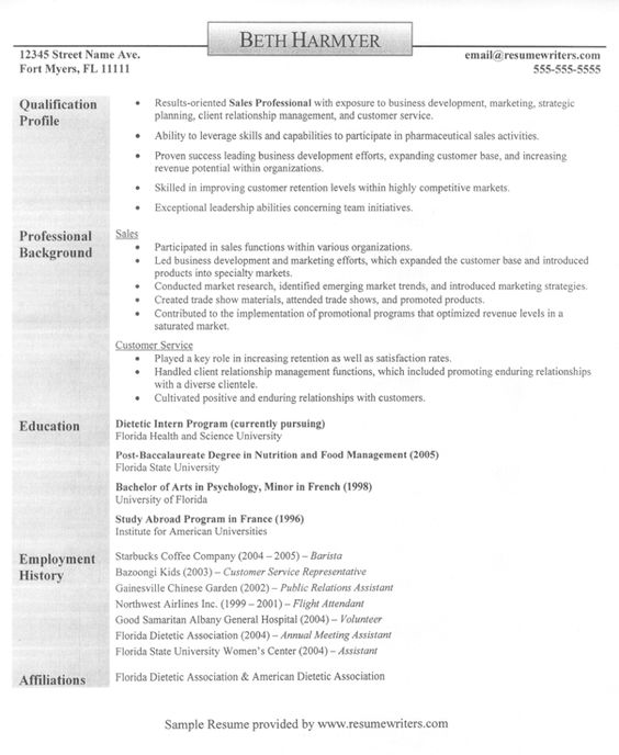 A sample resume for someone in sales #sales #resume - client relationship manager resume