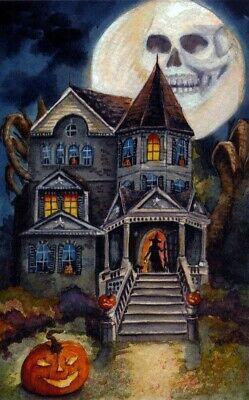 DIY Halloween/_/_/_Beware Haunted House/_/_/_Cross Stitch Pattern