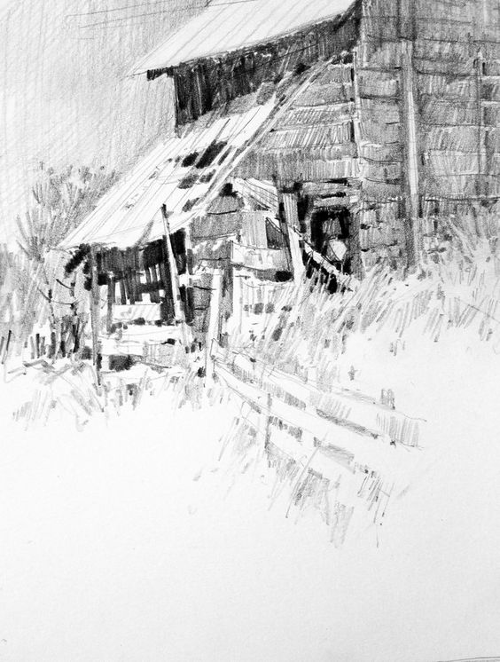 Did this on location in Ephraim, Utah. Graphite on smooth surface Bristol paper.
