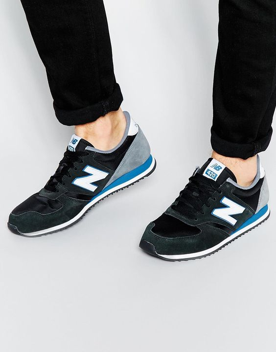 420 sneakers by New Balance Smooth textile upper Suede overlay Low profile retro runner Shaped and padded cuffs Lace-up fastening Round shaped toe Signature brand logo to the side ENCAP midsole Textured tread Treat with a leather protector 50% Nylon, 50% Suede Upper