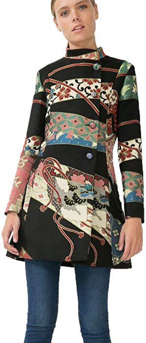 Manteau Desigual Selenne Noir 67e29d1 Taille 44 Amazon Co Uk Clothing Ropa Abrigos