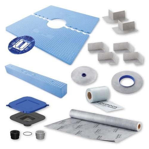 Durock Shower Kit 48 X48 Center Drain Shower Kits Shower