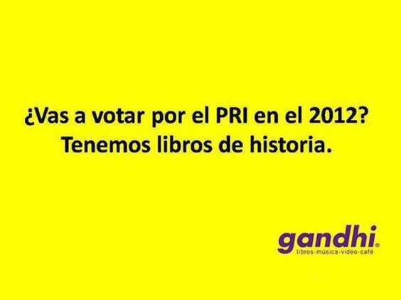 Elecciones 2012 México, Peña Nieto, Gandhi