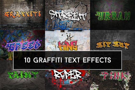 Graffiti Text Effects by Krukowski Graphics on @creativework247