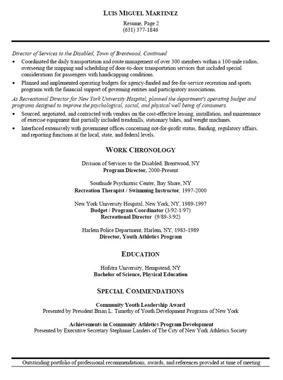 Aerobics Instructor Resume Examples -    wwwresumecareerinfo - sample resume for human resources