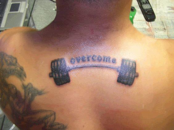 Barbell tattoo de plane de plane pinterest home for Weightlifting tattoo designs