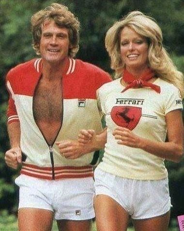 regram @lizlangeofficial I never get tired of old images of the two of them. Farrah and Lee out for a jog. Simply the best. #chicpeople #chicliving #treschic #vintagestyle #vintageclothing #vintagefashion #vintagephotography #loveit #beautiful #retro #thegoodolddays #couplegoals