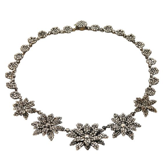 Brilliant Antique Cut Steel Floral Necklace | 1stdibs.com $4,265