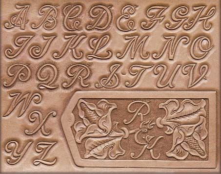 engraving letter templates - craftaid template leather pattern leathercraft pattern