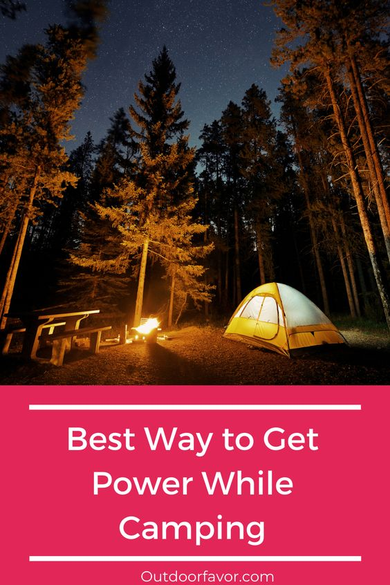 camping electricity solutions pinterest