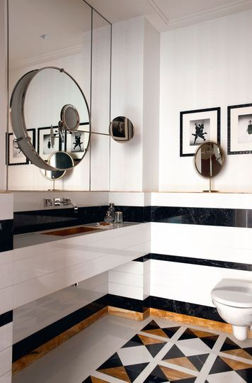 london home of Caroline Sarkozy >>>photos de Philip Halsman, galerie Magnum (Paris). Miroir d'Eileen Gray, Ecart International,et celui à poser de Joseph Frank, Jacksons Design (Stockholm et Berlin)