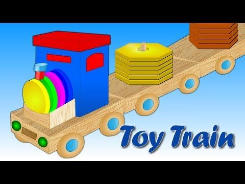 Learn Shapes Colors For Children With Wooden Train Toy Learning Shapes Videos For Kids Youtube Coloring For Kids Toy Train Learning Shapes