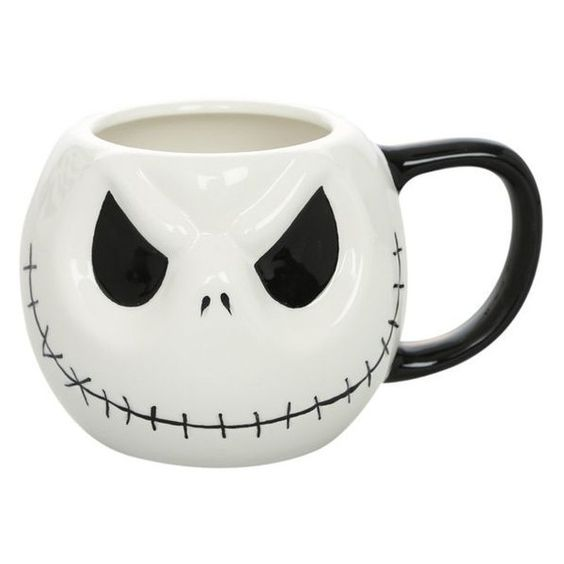 The Nightmare Before Christmas Jack Ceramic Mug Hot Topic ❤ liked on Polyvore featuring home, kitchen & dining, drinkware, ceramic mugs, jack skellington mug, christmas drinkware, christmas mugs and xmas mugs