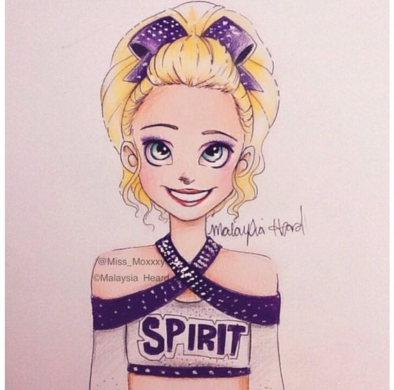how to draw cheerleading things