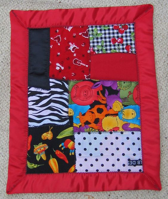 Red, White and Black - Snugglin blanket for babies and toddlers
