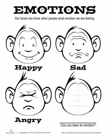 Worksheets: Emotions Coloring Page | Repinned by Melissa K. Nicholson ...