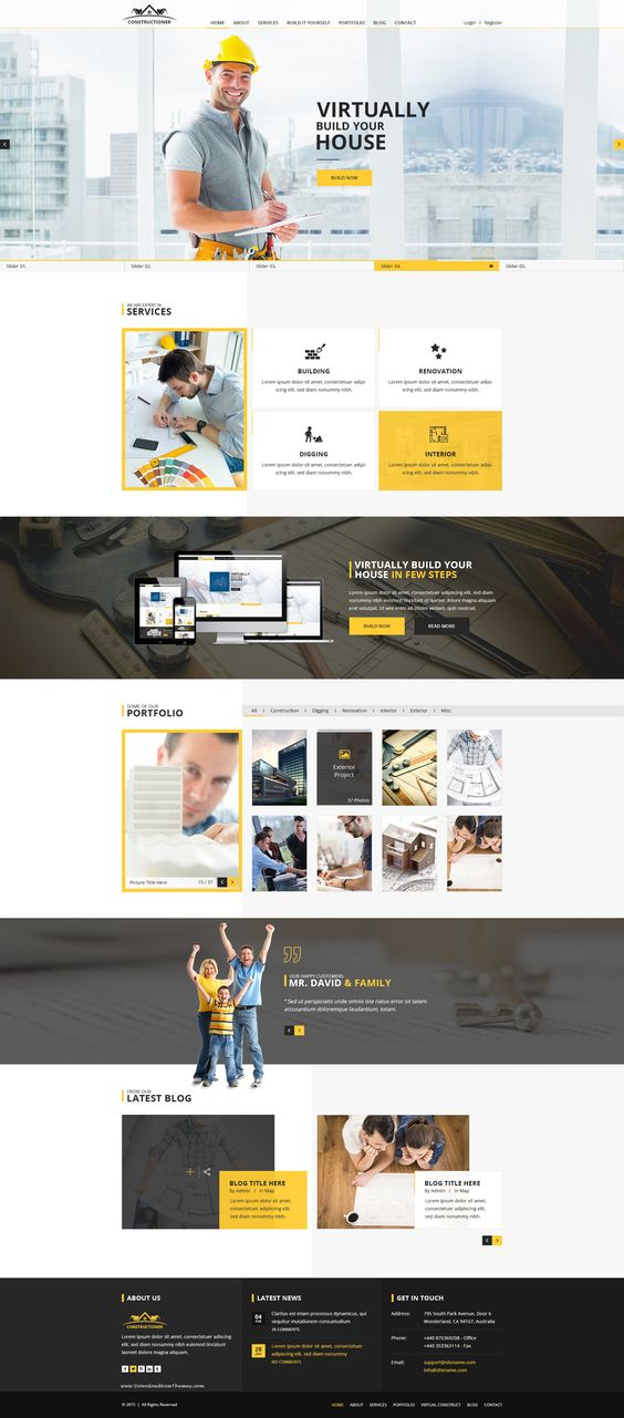 Constructioner Is A Modern Unique And Clean Design Psd Template Introducing A Powerful Idea