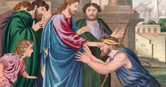 Ideas de manualidades sobre Jesús sanando al hombre ciego