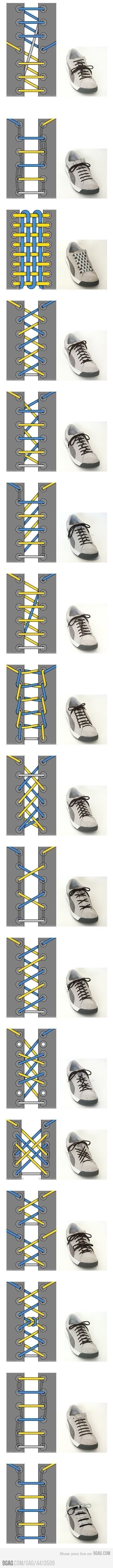 17 Ways To Tie Your Shoelace.  Probably 16 more than you ever needed to know about, but still!