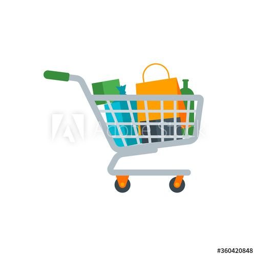 Cart Icon Trolley Icon Shop Icon Flat Illustration Ad Trolley Icon Cart Illustration Flat Flat Illustration Shop Icon Cart Icon
