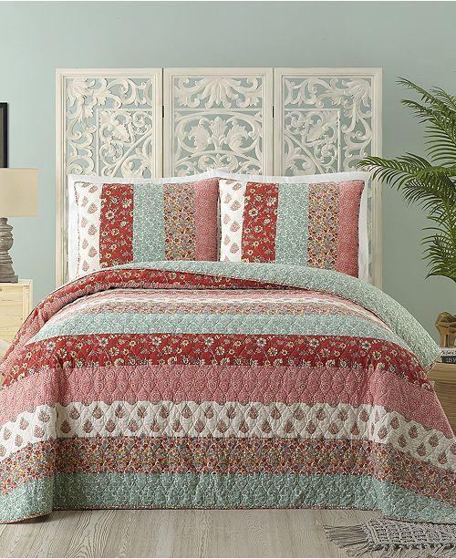 Jessica Simpson Caledonia Cotton Full Queen Quilt Quilts