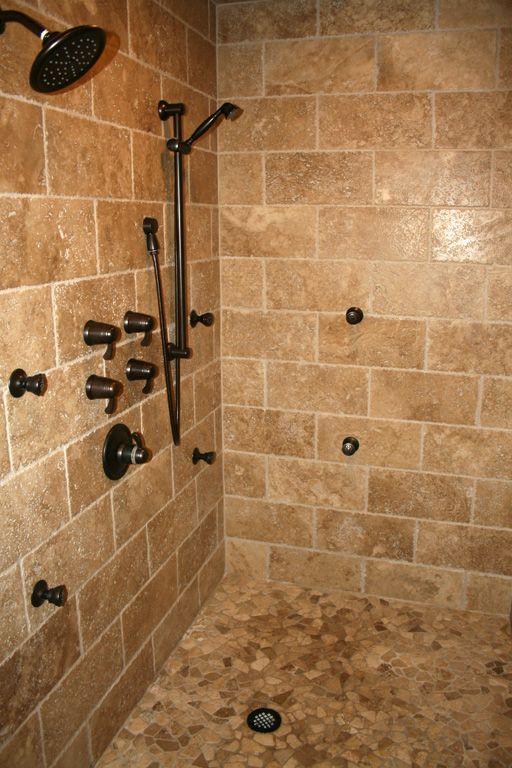 Popular Stunning Travertine Tile for Any Kinds of Room Wonderful Black Contemporary Shower Faucet Travertine Tile