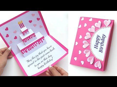 Birthday Card Ideas Pop Up Birthday Card Birthday Greeting Card Diy Pop Up Cake Card Youtube In 2021 Greeting Cards Diy Birthday Greeting Cards Birthday Cards