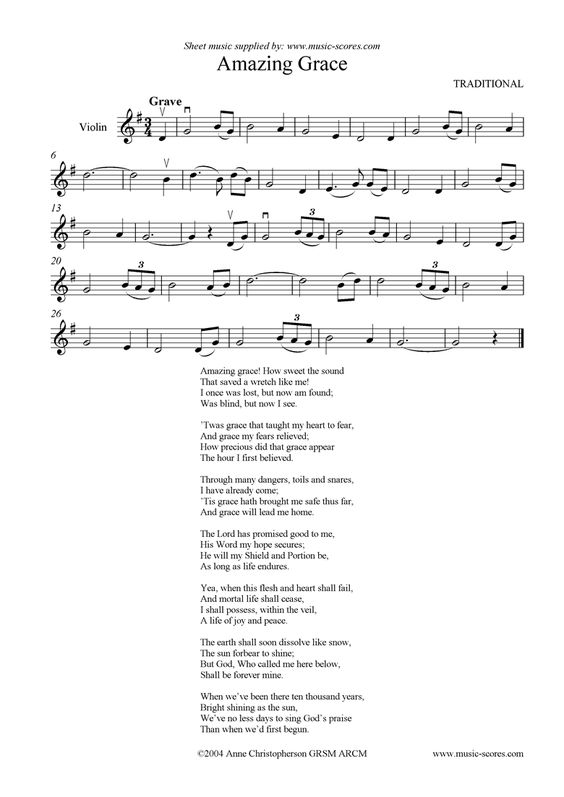 Amazing grace, Violin and Grace o'malley on Pinterest