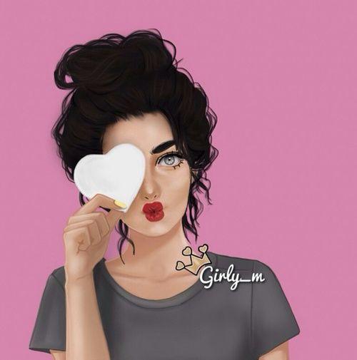 صور ارت بنات Girls Art رسوم بنات صور بنات مرسومه Girly M Instagram Girly M Girly