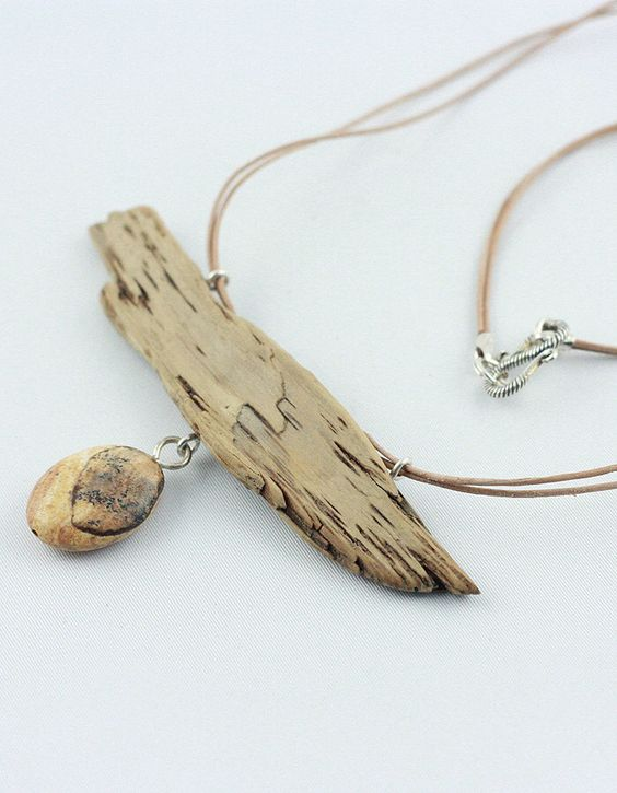 BIRKHOLM natural jewelry,driftwood necklace, handcrafted unique necklace,wood jewelry,Kalahari jaspis,Baltic driftwood, gift for mothers day by StoneSoftArt on Etsy https://www.etsy.com/listing/226267889/birkholm-natural-jewelrydriftwood