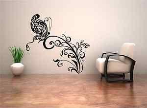 Spiral Butterfly Flower Tattoo Wall ART Sticker Decal Mural Stencil Vinyl Print  eBay