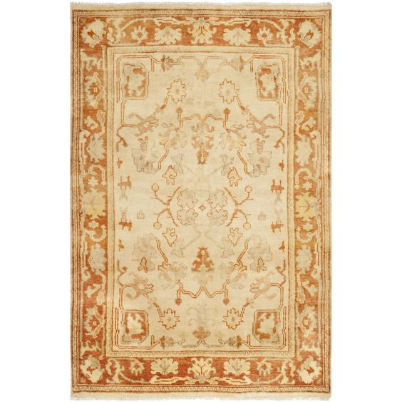 Safavieh Hand-knotted Oushak / Rust Rug