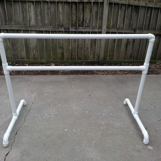 DIY ballet barre made out of pvc :)