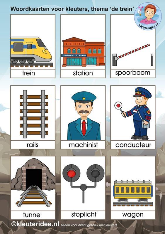 Woordkaarten Voor Kleuters Thema De Trein Kleuteridee
