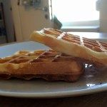 Waffles have been all the time a practice again house. Within the winter we used to make them a minimum of as soon as a month on Saturday nights. Everybody would get a primary waffle with butter and Coulommiers cheese; then nutella / whipped cream nutella / banana / whipped cream jam / whipped cream jam / Coulommiers butter / powdered sugar chestnut unfold  I do know I do know: not precisely what youd name a wholesome dinner however so rattling good.  In a approach that household ritual was…