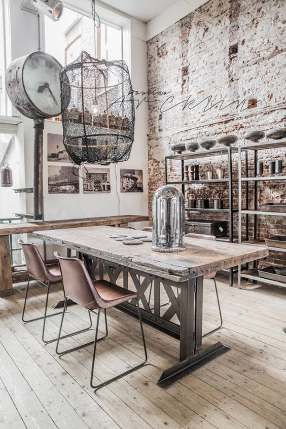 industrial dining room decorating