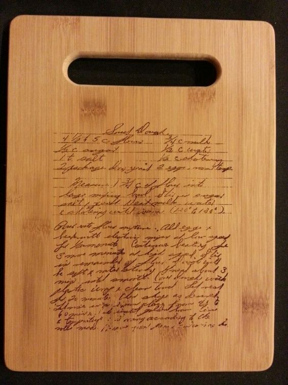 Custom engraved cutting board for Tamara from 3DCarving on Etsy