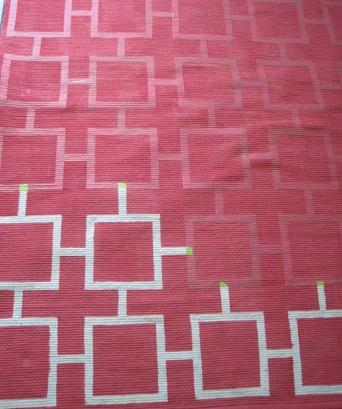 before & after: painted geometric rug | Design*Sponge