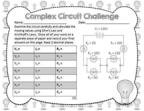 Ohms Law Series Circuit Worksheet Info – Ohms Law Worksheet