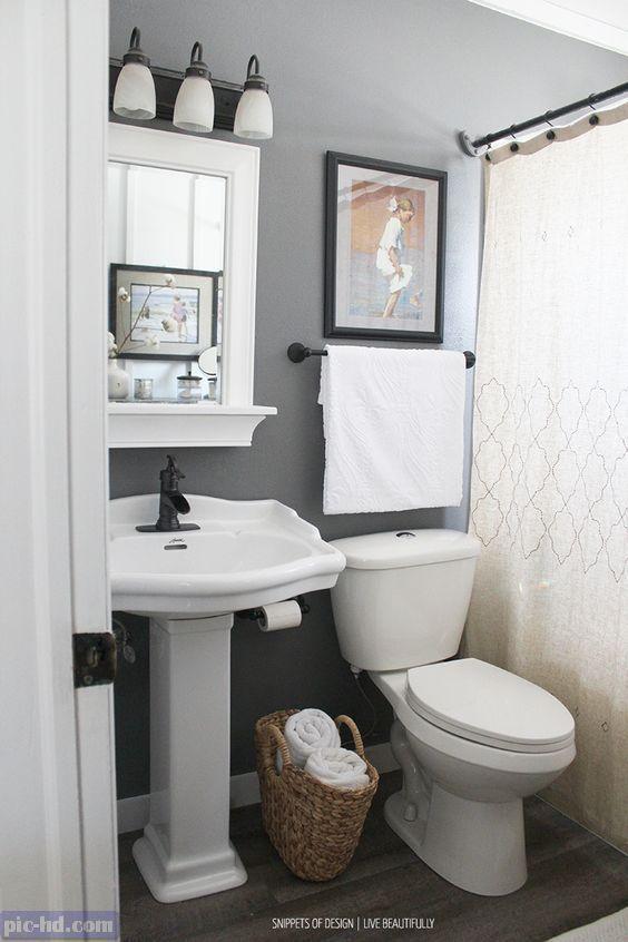 صور ديكورات حمامات مودرن افكار واشكال حمامات صغيرة وكبيرة Small Bathroom Decor Small Master Bathroom Small Bathroom