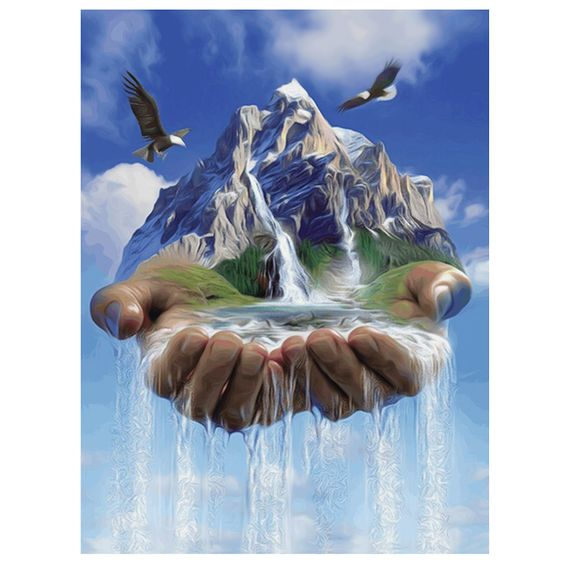Waterfall 5D Diamond Painting DIY Kit Part Drill Cross Stitch Diamond | TaoHut Wholesale