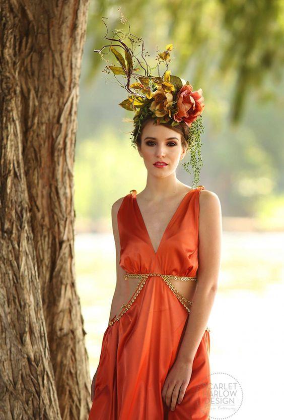 Floral Headdress - Scarlet Harlow Design