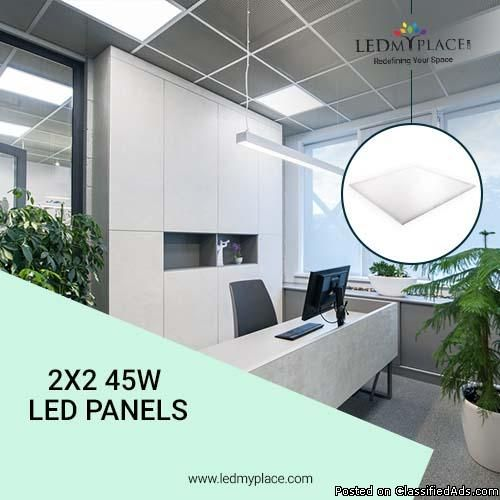 Have More Graceful Interiors By Installing 2x2 45w Led Panels Led Panel Led Panel Light Paneling
