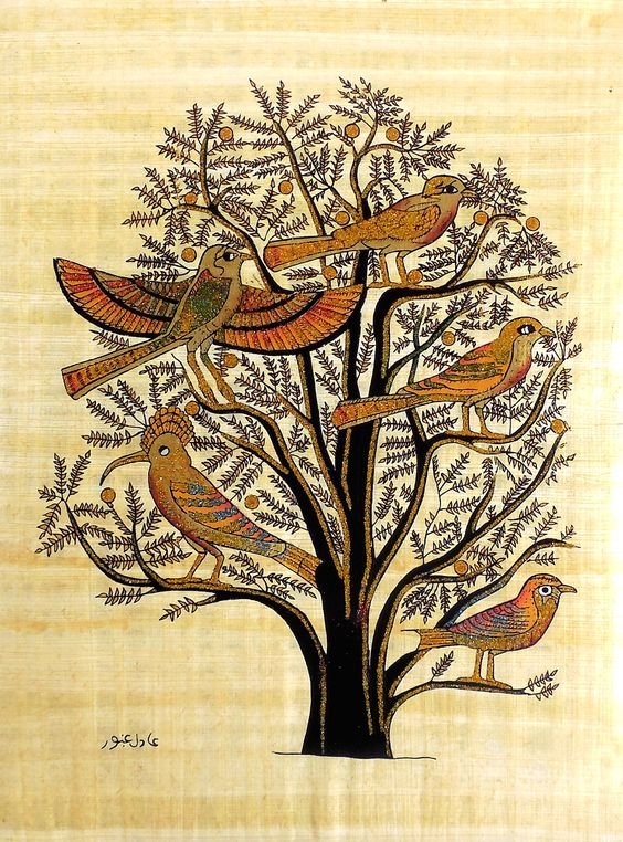 Tree of Life | Ancient Egyptian Papyrus Painting | Ancient ...