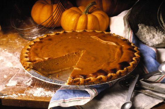Pumpkin Pie with Slice Removed