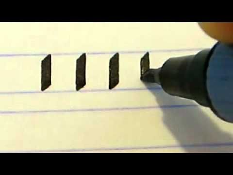 Calligraphy Course - How To Get Started With The Basic Skills. I ...